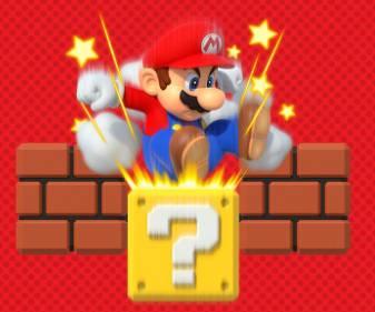 (하단에 있는 블록이나 벽돌을 엉덩이로 부술 수 있는 강철 엉덩이를 가진 슈퍼 마리오!)